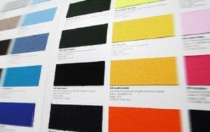Textildruck Farbmuster